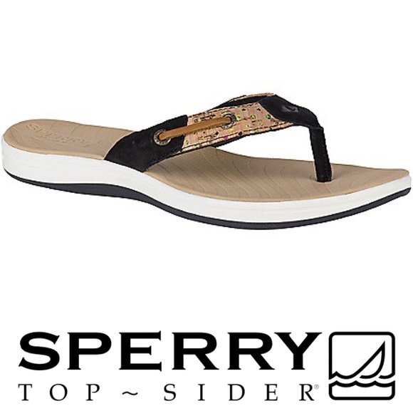 1518edaf4a41ab Sperry Topsider Seabrook Surf Tan Thong Slide Sz 5